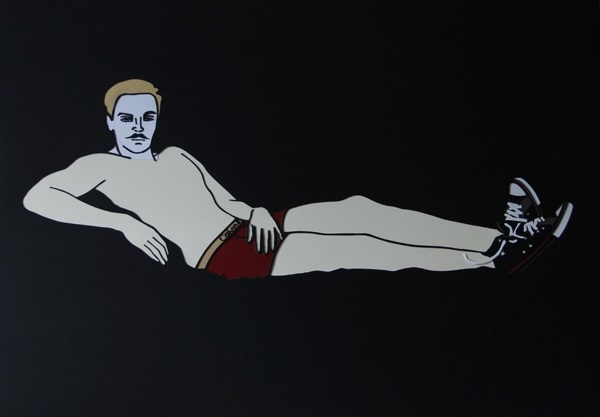 Kasia Kmita, Olympic Man, hand made cut-out, 70 x 100 cm, 2013