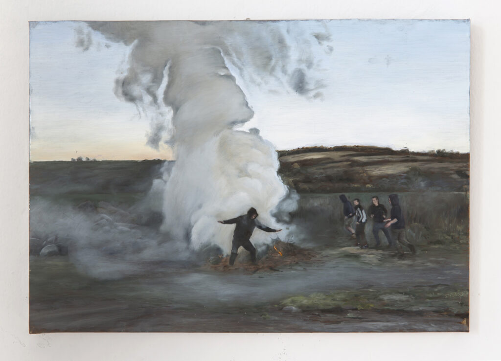 Karol Palczak, Smoke I, 2018, oil on aluminum, 30 x 42,5 cm