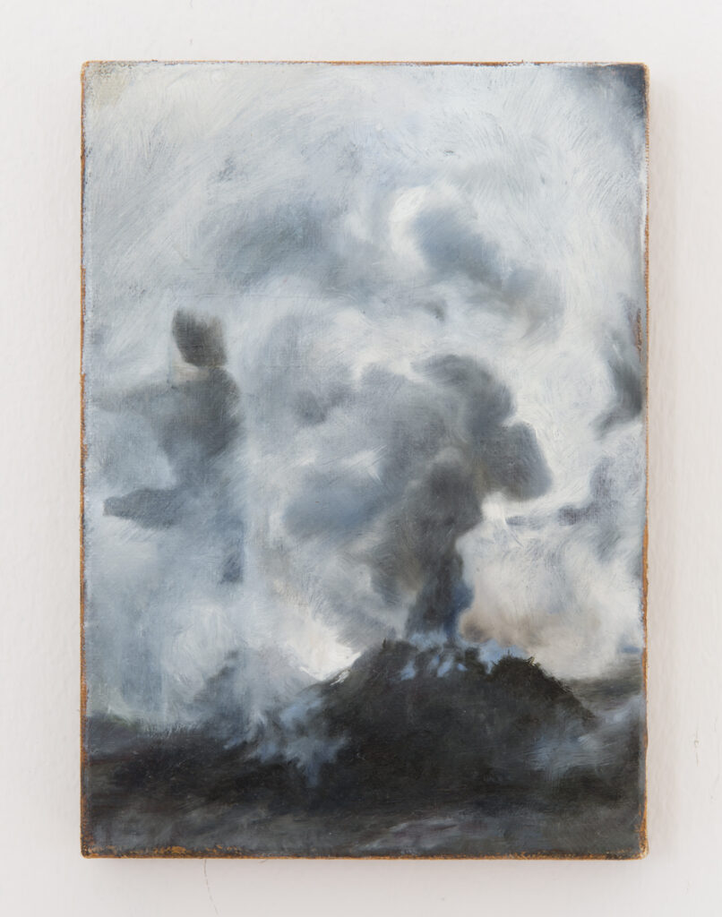 Karol Palczak, Smoke II, 2018, oil on canvas, 27 x 19 cm