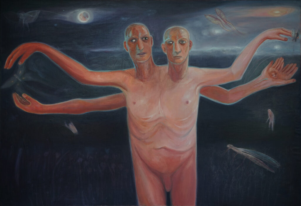 What emerges from the Black Lake is nothing like you've seen before_ olej na plotnie_ 130×188 cm_2021
